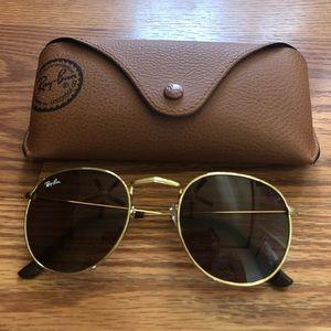 Round Rayban Brown Sunglasses